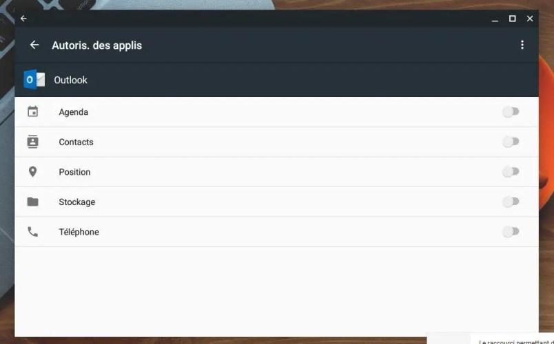 Comment changer les permissions des applications Android sur Chromebook
