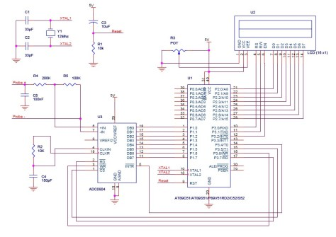 Digital voltmeter using 8051 micrcontroller