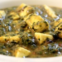 Palak Paneer with Dal / Spinach and Paneer Curry with Lentils
