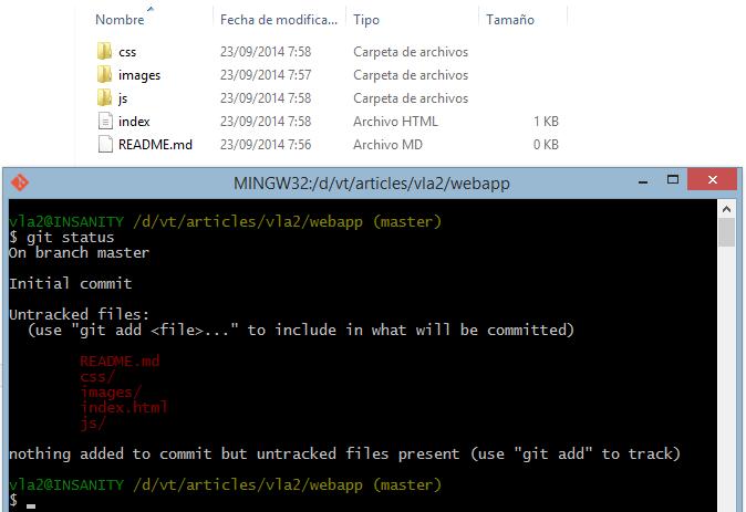 Verificando el estado del repositorio Git