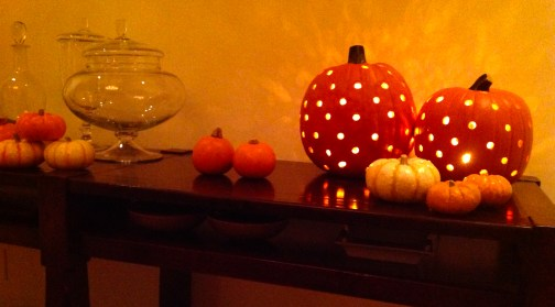 Pumpkins on a Table