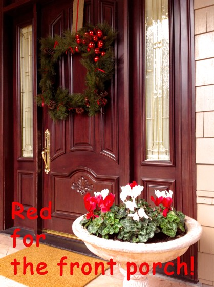 Red For The Front Porch!