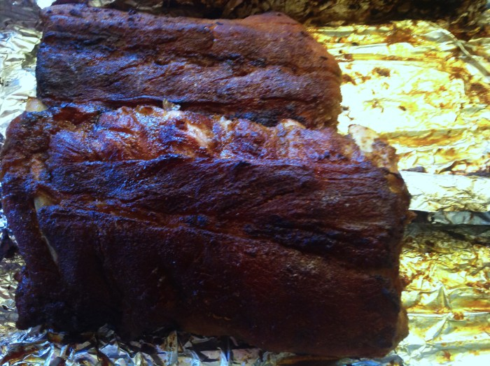 Spare Ribs In The Oven, Sweet & Smoky!