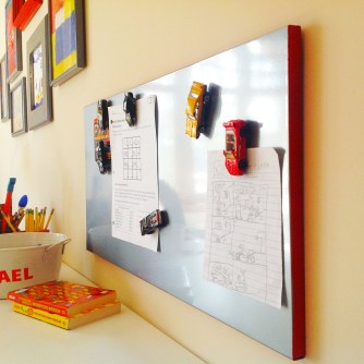 Wall With Magnetic Board