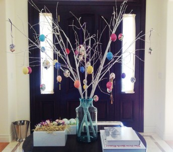 Easter Eggs Covered In Paper Napkin – Part II –  How To Make An Easter Tree