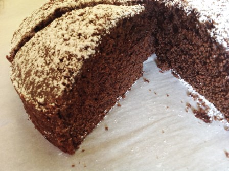 Slice of Tahini Chocolate Cake