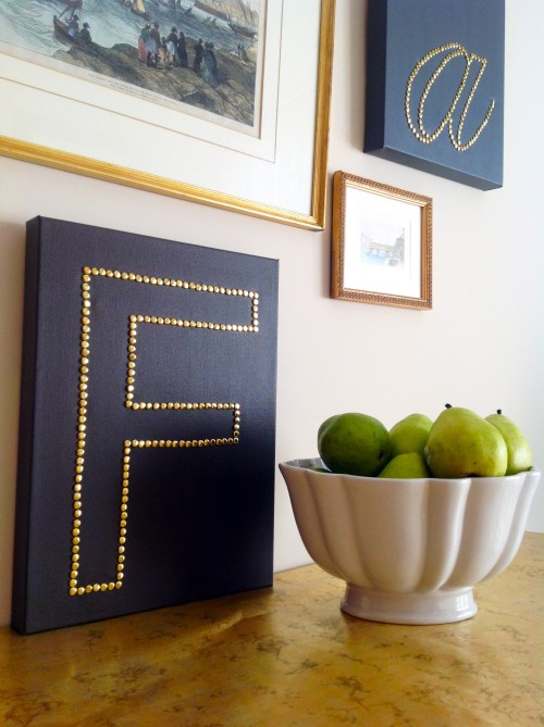 Canvas With Brass Monogram