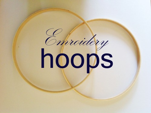 Embroidery Hoops - My Dear Irene