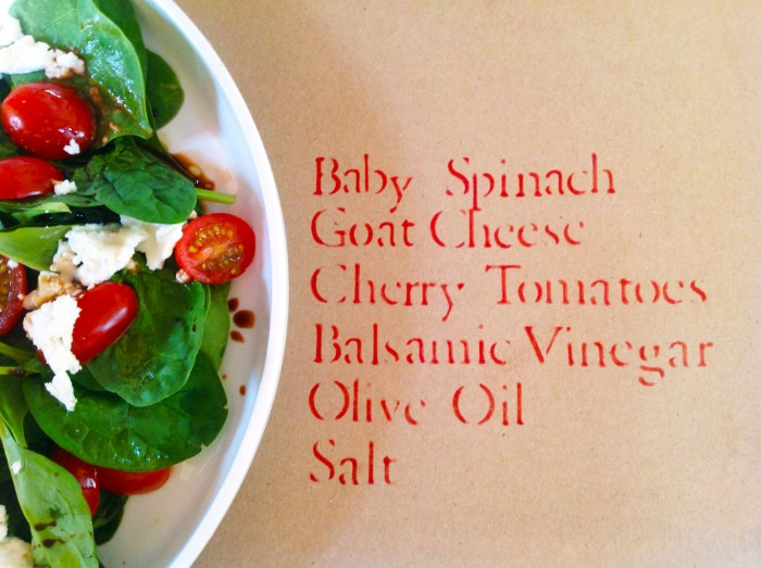 Baby Spinach Salad With Sweet Cherry Tomatoes & Creamy Goat Cheese