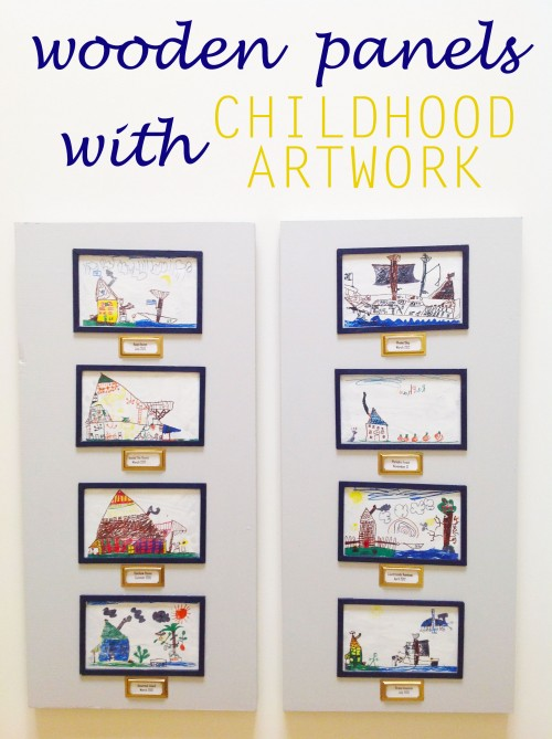 Wooden Panels With Childhood Artwork