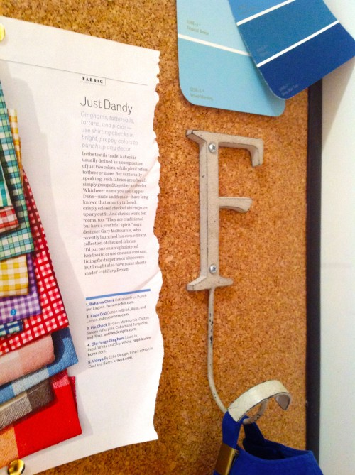 Letter Hook On Memo Board - www.mydearirene