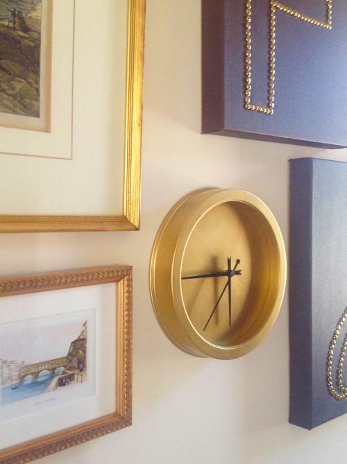 Golden Clock In Study
