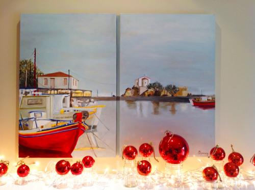 Lesvos Painting Christmas - mydearirene