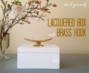 Lacquered Box With Hook