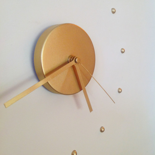 Golden Wall Clock - mydearirene