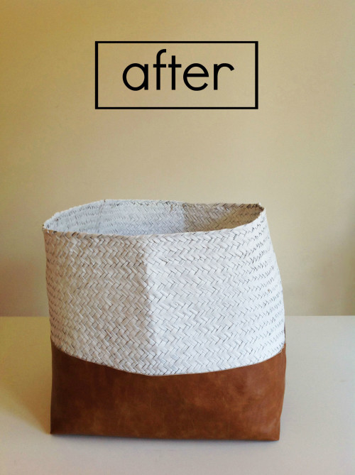 Faux Leather Basket After ps- mydearirene