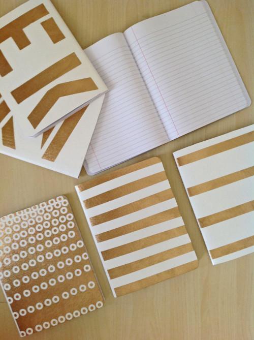 Glamorous White And Gold Notebooks - mydearirene.com
