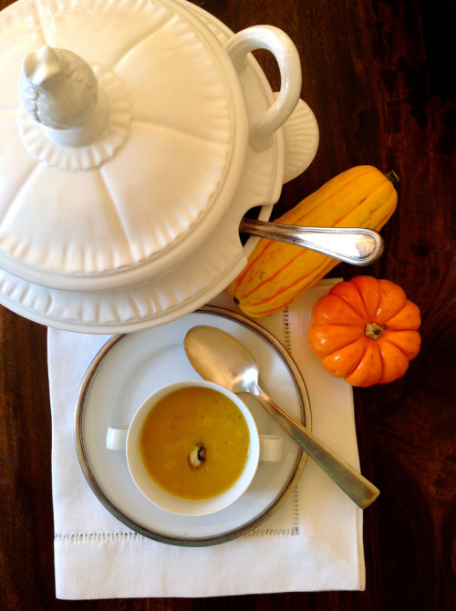 Pumpkin-Soup-With-Truffle-Butter-mydearirene-764x1024