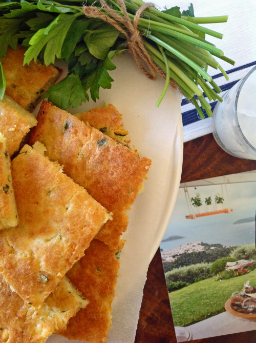 Zucchini And Feta Cheese Squares In Skiathos - mydearirene.com