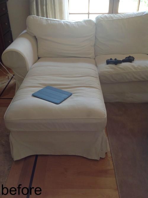 IKEA Sofa Before - mydearirene.com