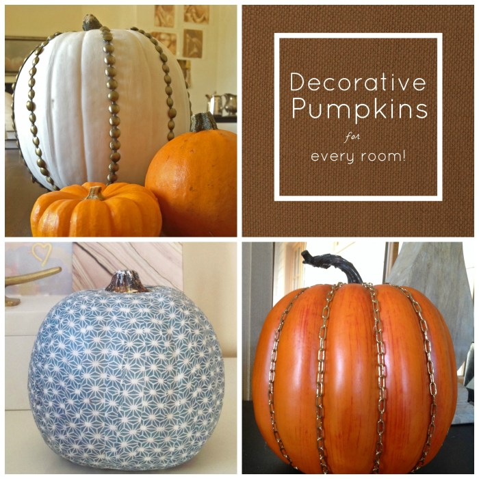 A Decorative Pumpkin For Every Room