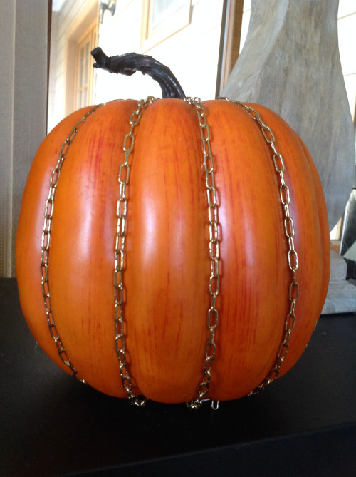 Pumpkin With Gold Chain - mydearirene.com