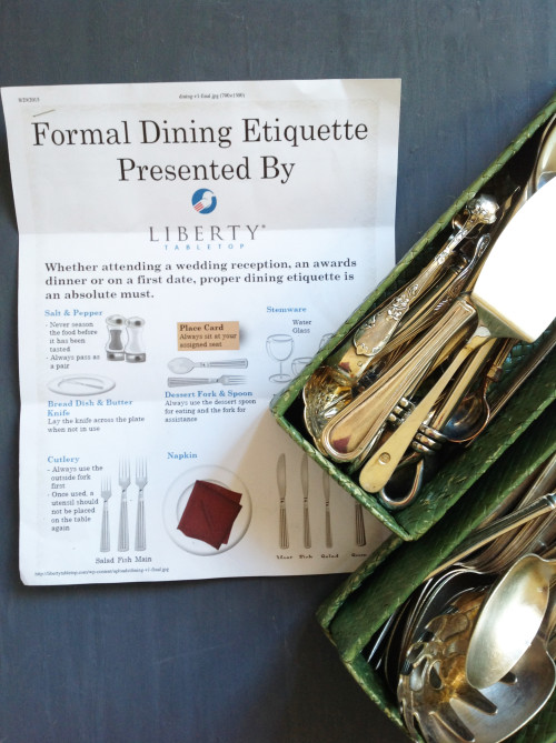 Formal Dining Etiquette Print Out - mydearirene.com