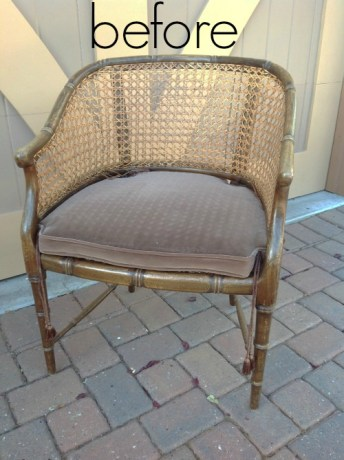 Faux Bamboo Chair Remake