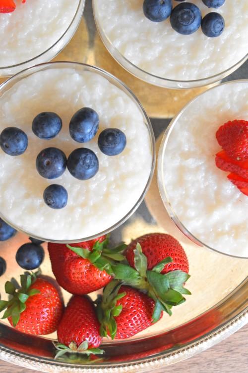 Almond Milk Rice Pudding II - mydearirene.com