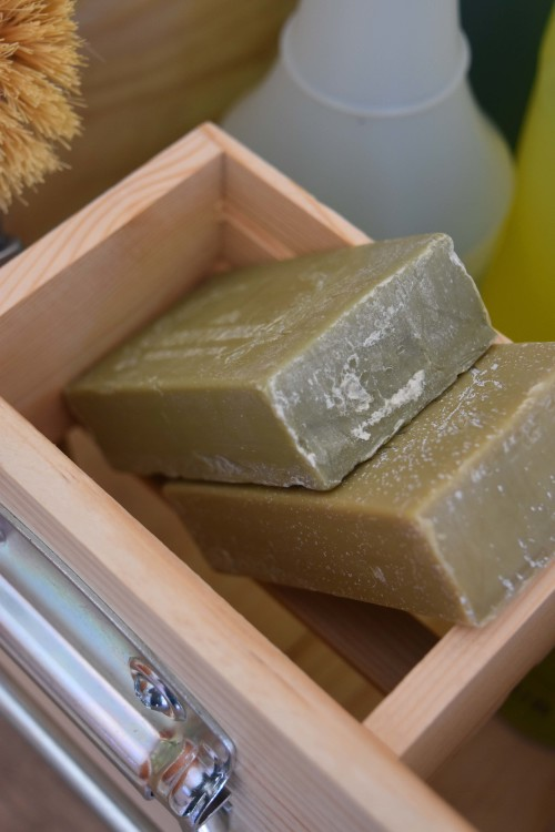 Cleaning Caddy With Pocket And Olive Oil Soap - mydeariene.com