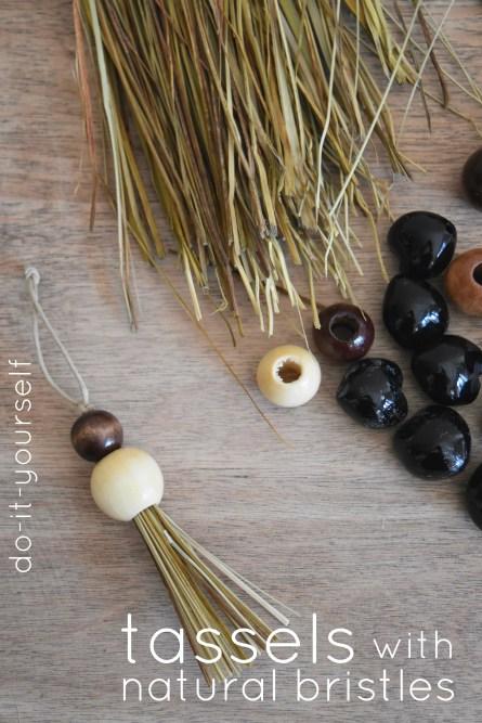 Cute Tassels Made From Broom Bristles