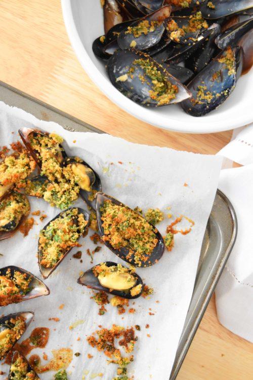 Garlic Mussels Au Gratin (1) - mydearirene.com