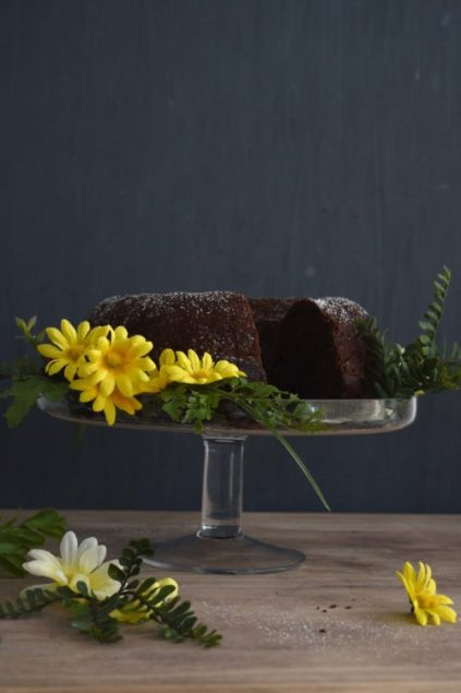 Vegan Banana Chocolate Cake