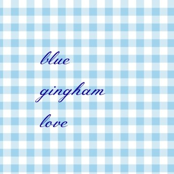 Blue Gingham Love