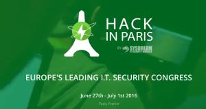 #IT - Hack In Paris - By SysDream @ Maison de la Chimie  | Paris | Île-de-France | France
