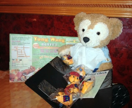 Duffy the Disney Bear gets lots of Fortune Cookies