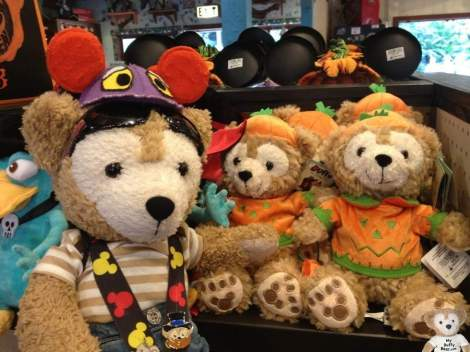 "Duffy the Disney Bear in Animal Kingdom with a 9"" Halloween Duffy Bear"