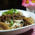 Taiwanese meat sauce over noodle