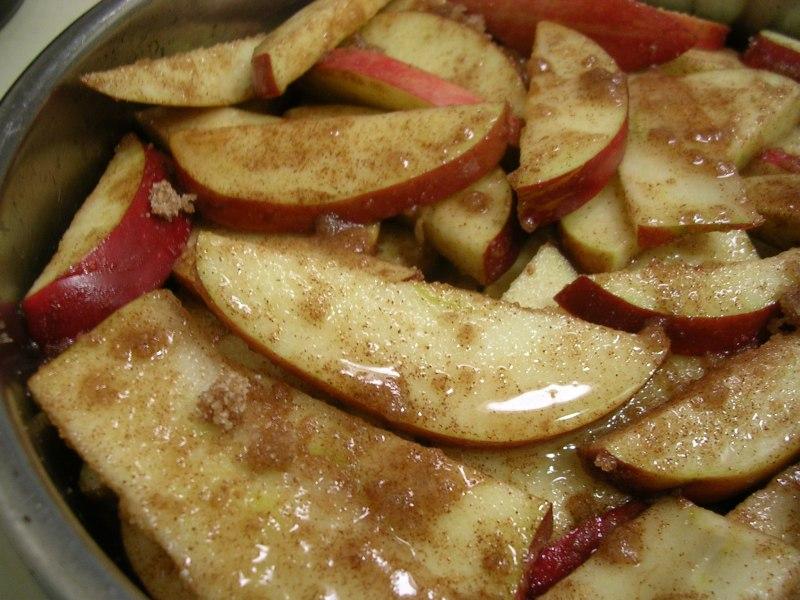 Large Of Sliced Baked Apples