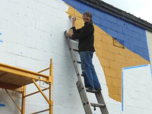Edmonds mural no 2 started at 313 main st my edmonds news for Edmonds mural society