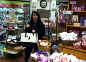 The Papery's Berri Wen in her store.