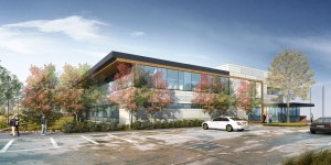 Swedish Edmonds cancer ctr - rendering_SE view