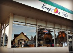 At long last, Soup's On Cafe is open at Five Corners! The address is 8402 Bowdoin Way and the phone is 425-670-1616. Hours are 10:30 am.-7:30 p.m. Monday-Saturday and 10:30 a.m.-3 p.m. Sunday. They will be closed on Thanksgiving.