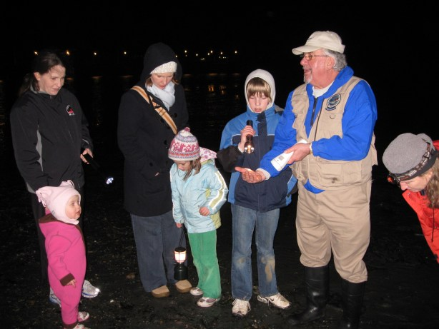 Explorers at a past starlight beach walk. (Photo courtesy of Edmonds Parks and Recreation)