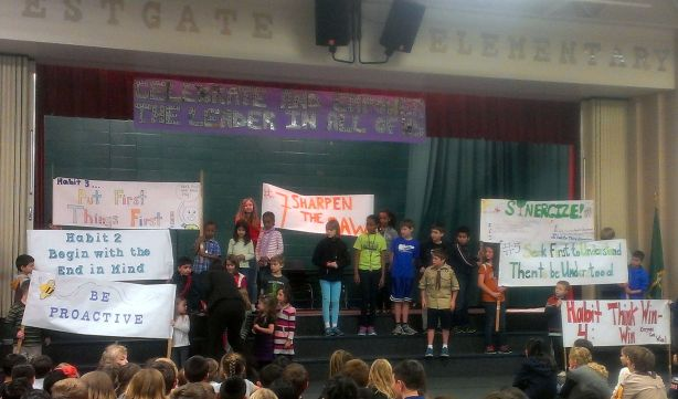 "The ""7 Habits"" presentation by Westgate students."
