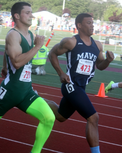 Meadowdale's Mar-gary-onta Kilcup finished fifth in his 200 dash preliminary heat and advanced to Saturday's finals. Kilcup placed third in the 100 prelims and also earned a spot in the finals.