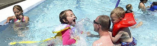 Look forward to a season of safe family fun at Yost Pool as YMCA staff assume the roles of instructors and lifeguards. (Photo courtesy of Edmonds Parks and Recreation)
