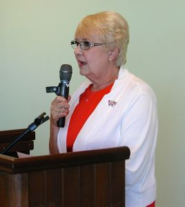 Linda Whitsell, a retired geriatric nurse, was the featured speaker.
