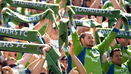 Ride Sounder to the Sounders game. (Photo courtesy Sound Transit website)