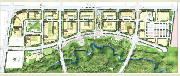 Uptown Markham - Ariel view of the site plan